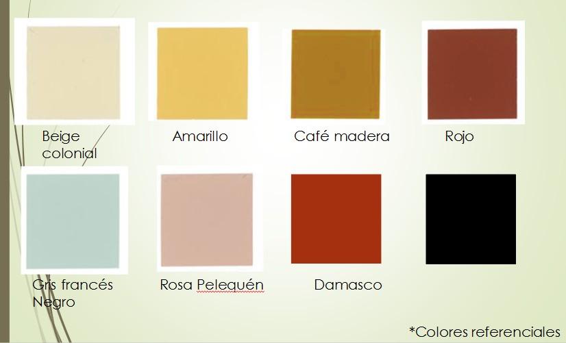 Tabla de colores concretos real for Tabla de colores pintura interior